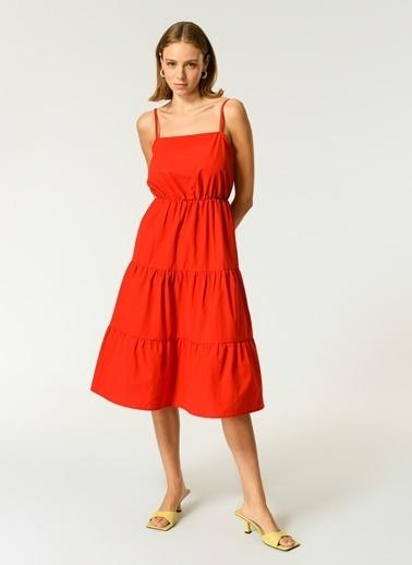 NGSTYLE Kadın Askılı  Elbise NGKSS21EL0054 Kırmızı